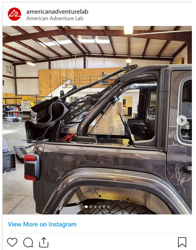 Jeep JL Cargo Shelf for Soft Tops